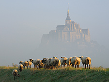Der Mont-Saint-Michel am Septembermorgen, 15. September 2011, Foto: Vlachenko, Wikimedia Commons