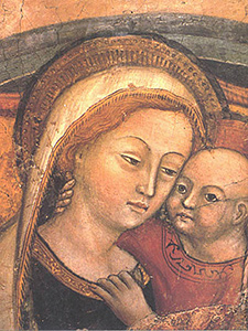 Our Lady of Good Counsel - Mutter vom guten Rat, Genazzano. Hochgeladen von Andreas Praefcke, Wikimedia Commons